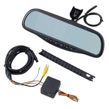 Universal Navigation Mirror With Touch Screen Controls And Bluetooth