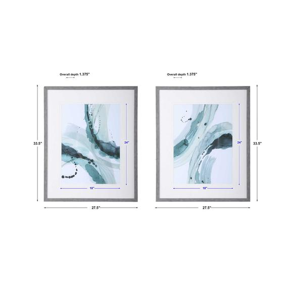 Depth Framed Prints, S/2