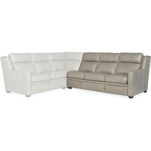 Bradington Young Revelin RAF Sofa Recliner At Arm w/AHR - Two Pc Back 203-62-2
