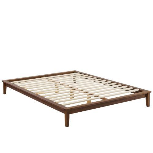 Lodge Full Wood Platform Bed Frame in Walnut