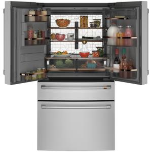 ENERGY STAR® 27.8 Cu. Ft. Smart 4-Door French-Door Refrigerator - STAINLESS STEEL
