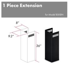 "ZLINE 1-36"" Chimney Extension for 9 ft. to 10 ft. Ceilings in Black Stainless (1PCEXT-BSKBN)"