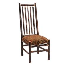 High-back Spoke Side Chair - Natural Hickory - Customer Fabric