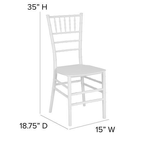 Flash Furniture - HERCULES Series White Resin Stacking Chiavari Chair
