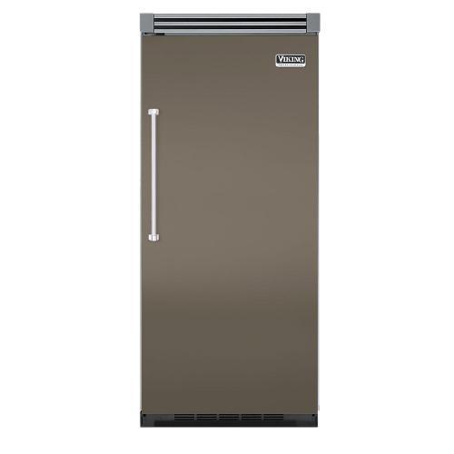 """Viking - Stone Gray 36"""" Quiet Cool™ All Refrigerator - VIRB Tru-Flush™ (Right Hinge Door)"""