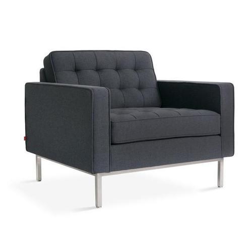 Spencer Chair Urban Tweed Ink / Stainless Steel