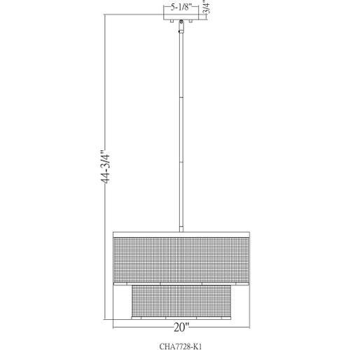 "Vail VAI-002 13.62""H x 20""W x 20""D"