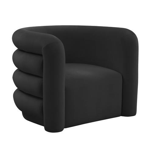 Curves Black Velvet Lounge Chair