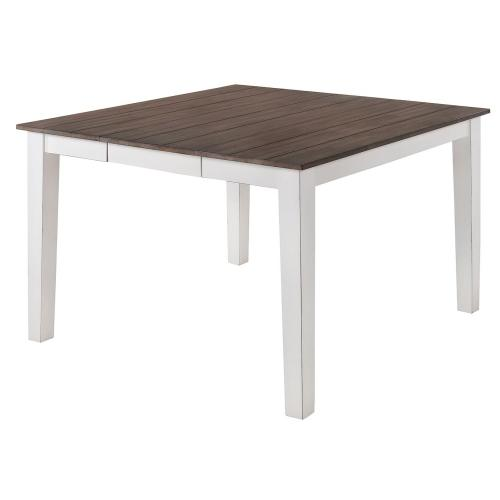 5057 A La Carte White Counter Height Dining Table