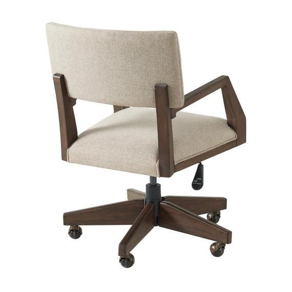 Riverside - Sheffield - Upholstered Desk Chair - Rich Tobacco Finish