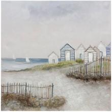 See Details - LIFE BY THE SEA  HAND PAINTED  40in X 40in  Life By The Sea Hand Painted Canvas