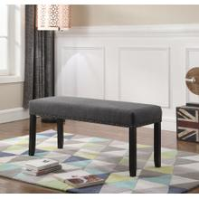 Biony Grey Fabric Dining Bench with Nailhead Trim