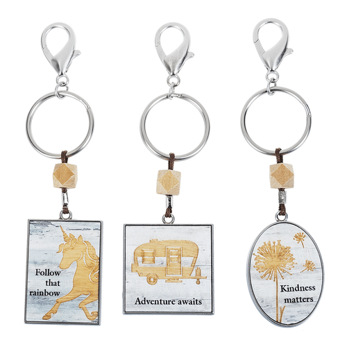 Woodcut Inspirations Key Rings (12 pc. ppk.)