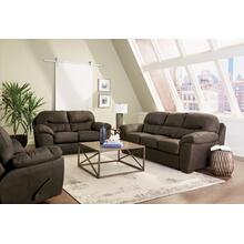 "44550  Sofa (94"") and Loveseat - Legend Chocolate"