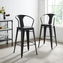 AMELIA 2PC METAL BAR HEIGHT BAR STOOL SET