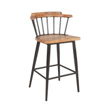 See Details - Tucker Counter Stool, Wood/Iron