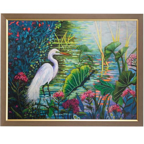 Style Craft - TESTING THE WATERS  39in w X 30in ht  Textured Framed Print  Made in USA