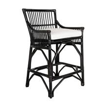 Winston Rattan Counterstool-Solid Black