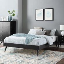 Margo King Wood Platform Bed Frame in Black