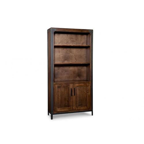 Portland Bookcase with Doors & w/3 Adjustable shelves