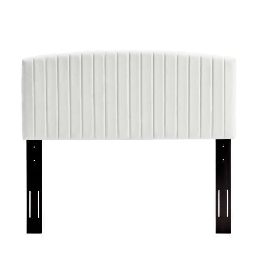 Rebecca Performance Velvet Full / Queen Headboard in White