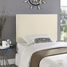 Region Twin Upholstered Fabric Headboard in Ivory