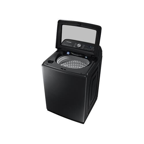 Gallery - 5.1 cu. ft. Smart Top Load Washer with ActiveWave™ Agitator and Super Speed Wash in Brushed Black