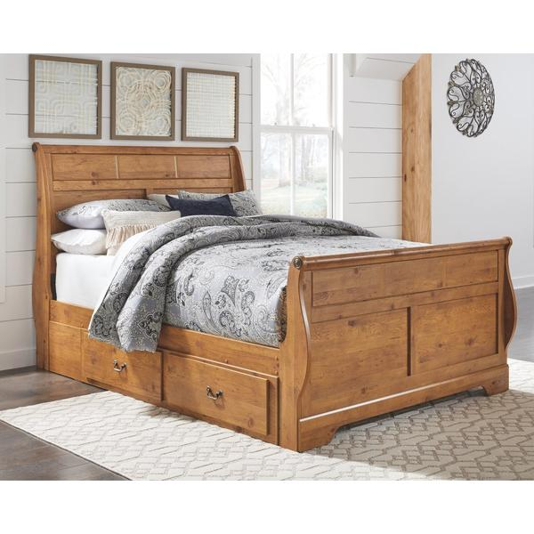 Bittersweet Queen Sleigh Bed With 2 Storage Drawers