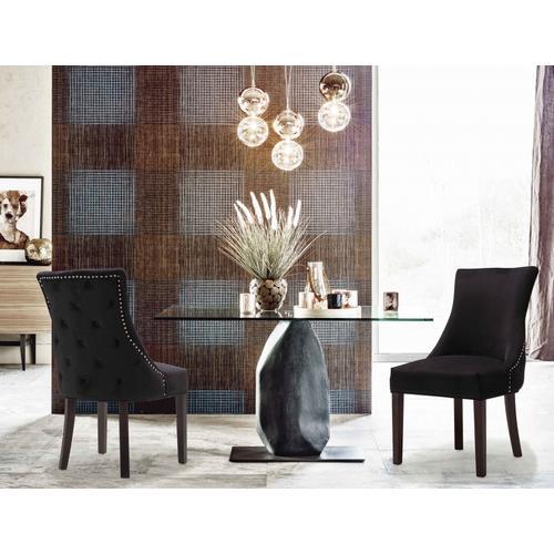 "Hannah Velvet Dining Chair - 20.5"" W x 25"" D x 38.5"" H"