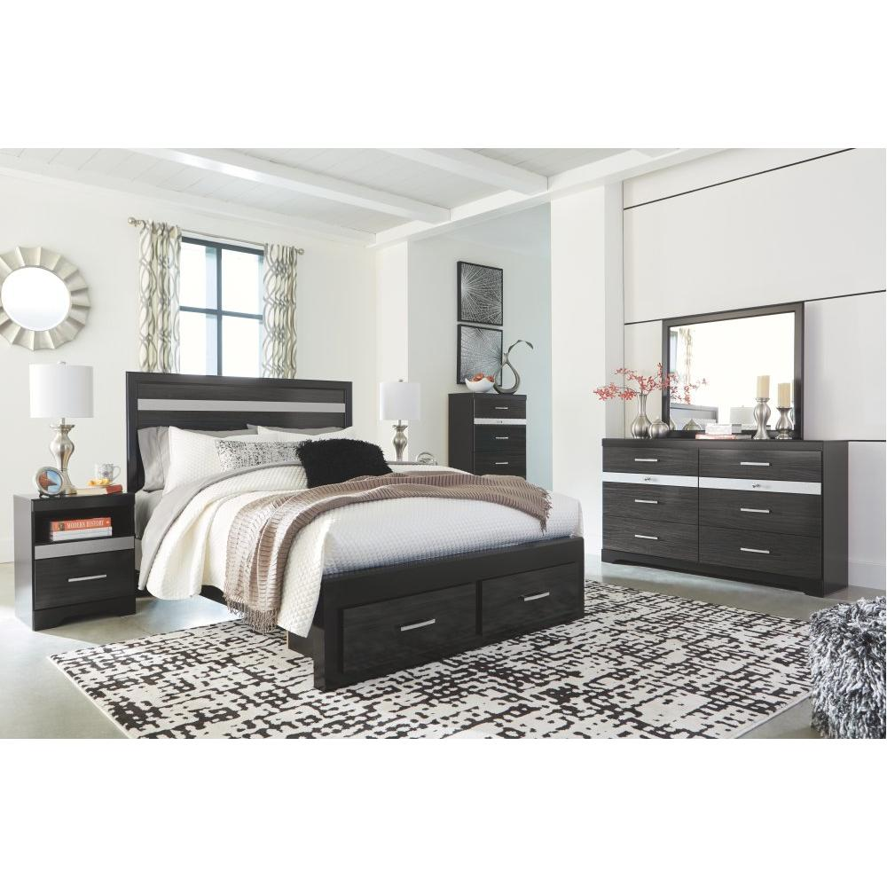 Starberry Queen Panel Bed With 2 Storage Drawers