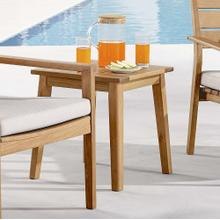 Viewscape Outdoor Patio Ash Wood End Table in Natural