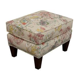 477N Reynolds Ottoman with Nails