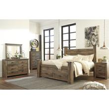 View Product - King Poster Bed With Dresser and Chest