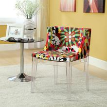 Flower Dining Side Chair in Clear