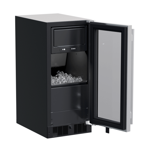 15-In Built-In Clear Ice Machine With Factory-Installed Pump with Door Style - Stainless Steel