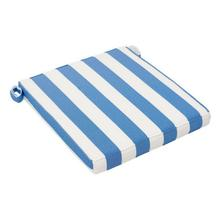 Nautical Chair Seat Cushion Blue & White