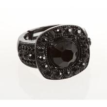 BTQ Black Rhinestone Ring