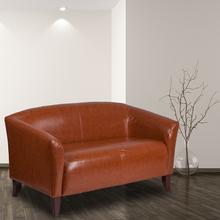 HERCULES Imperial Series Cognac LeatherSoft Loveseat