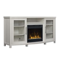"""Rossville TV Stand for TVs up to 60"""" with Electric Fireplace, Tifton Oak"""