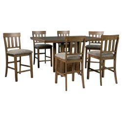 Counter Height Dining Table and 6 Barstools