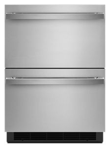 "JennairNoir 24"" Double Drawer Refrigerator/freezer"