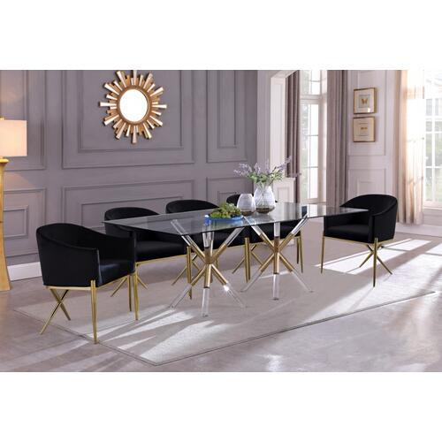 "Mercury Dining Table - 84"" W x 42"" D x 30"" H"