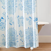 Best Seller Emma Shower Curtain, BLUE, ONE
