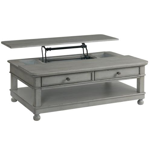 Bella Grigio - Lift-top Coffee Table - Chipped Gray Finish