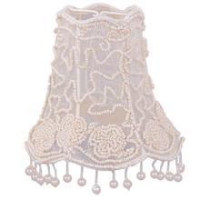 "5"" Pearl Beaded Shade w/ Dangling Pearls"