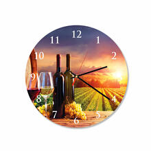 Vineyard Round Square Acrylic Wall Clock