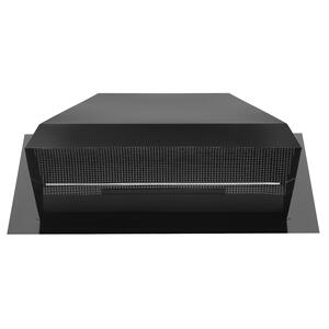 """BestSteel Roof Cap for 8"""" to 10"""" Round Duct with Backdraft Damper and Bird Screen, Black"""