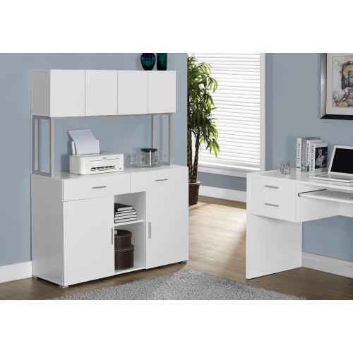 "Gallery - OFFICE CABINET - 48""L / WHITE STORAGE CREDENZA"