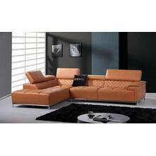Divani Casa Citadel Modern Orange Italian Leather Sectional Sofa