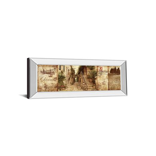 """""""Tuscany"""" By Keith Mallet Mirror Framed Print Wall Art"""